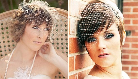 How To Wear A Birdcage Veil Short Wedding Hair Wedding