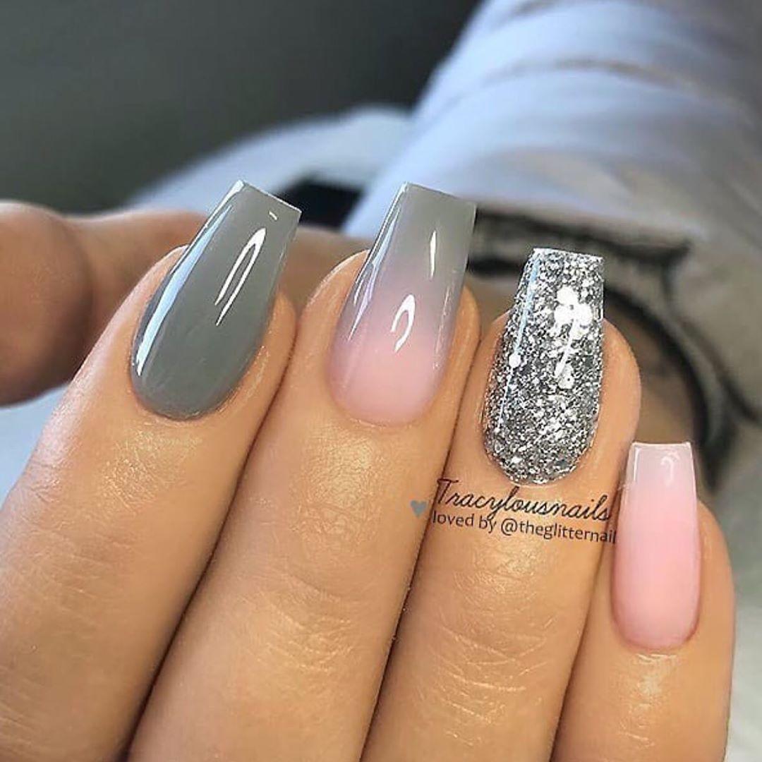The Best Gray Nail Art Design Ideas | Stylish Belles