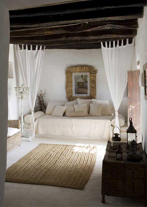 Mediterranean earthy bedroom