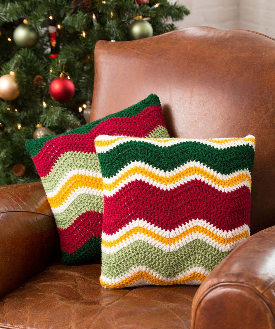 Holiday Chevron Pillow Pattern | Free crochet, Pillows and Yarns
