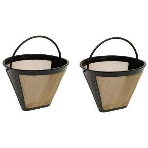 Blendin Gf214cb 4 Cone Permanent Golden Stainless Steel Coffee Filter 2 Pack Undefined Stainless Steel Coffee Maker Coffee Filters Coffee Accessories