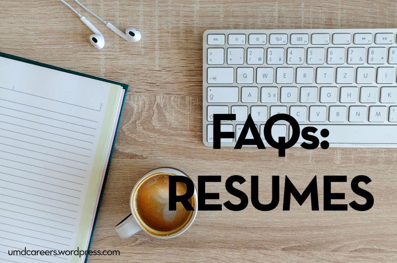 Faqs resumes resume cover letter for resume school