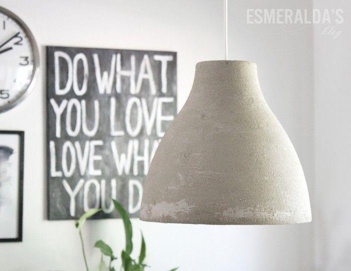 Cool Eine Ikea Melodi Lampe mit Beton bestreichen trocken lassen und fertig ist die Designer Lampe