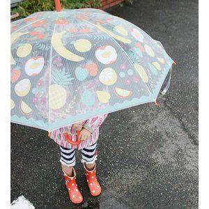 ビニール傘 キッズ フルーツ happy clear umbrella kids fruit キッズ アンブレラ 傘 子供 入園 入学 通学 雨具 レイングッズ hhlg6051 #clearumbrella