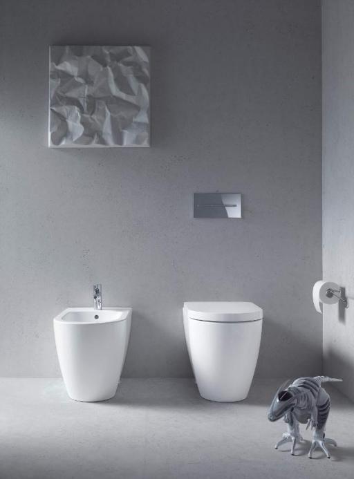 Ikonisch StandWC und StandBidet Badezimmer, Wc mit