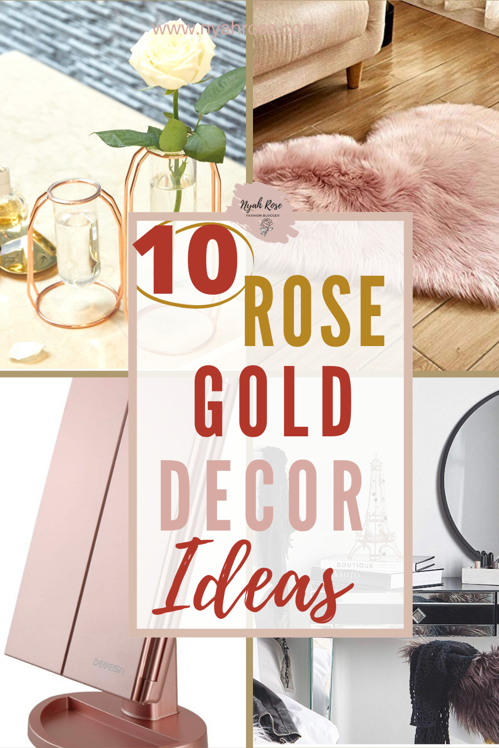Love Rose Gold? Here are some rose gold room decor ideas for your bedroom and Living rooms.    #rosegolddiy #rosegoldkitchen #rosegoldparty #roomdecorideas #roomdecorliving #bedroomdecor #roomdecor aesthetic