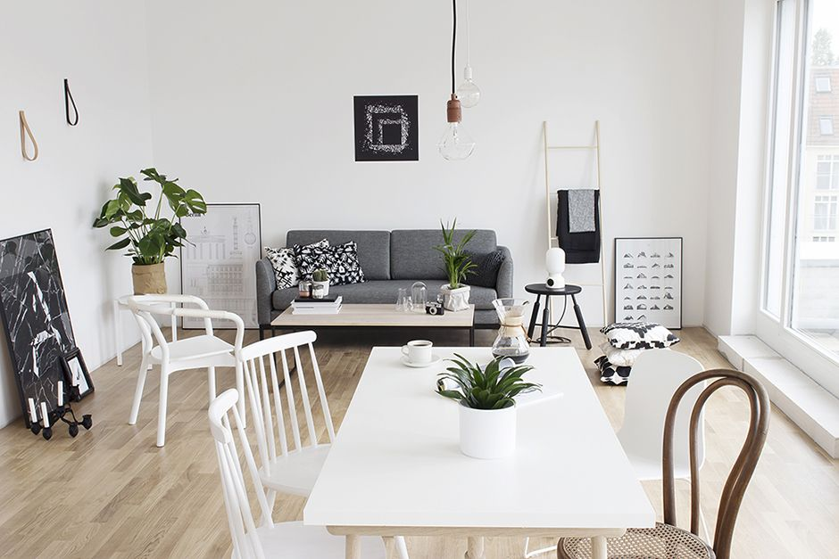 Deco inspiration wood and whitet berlin apartament nordic decor
