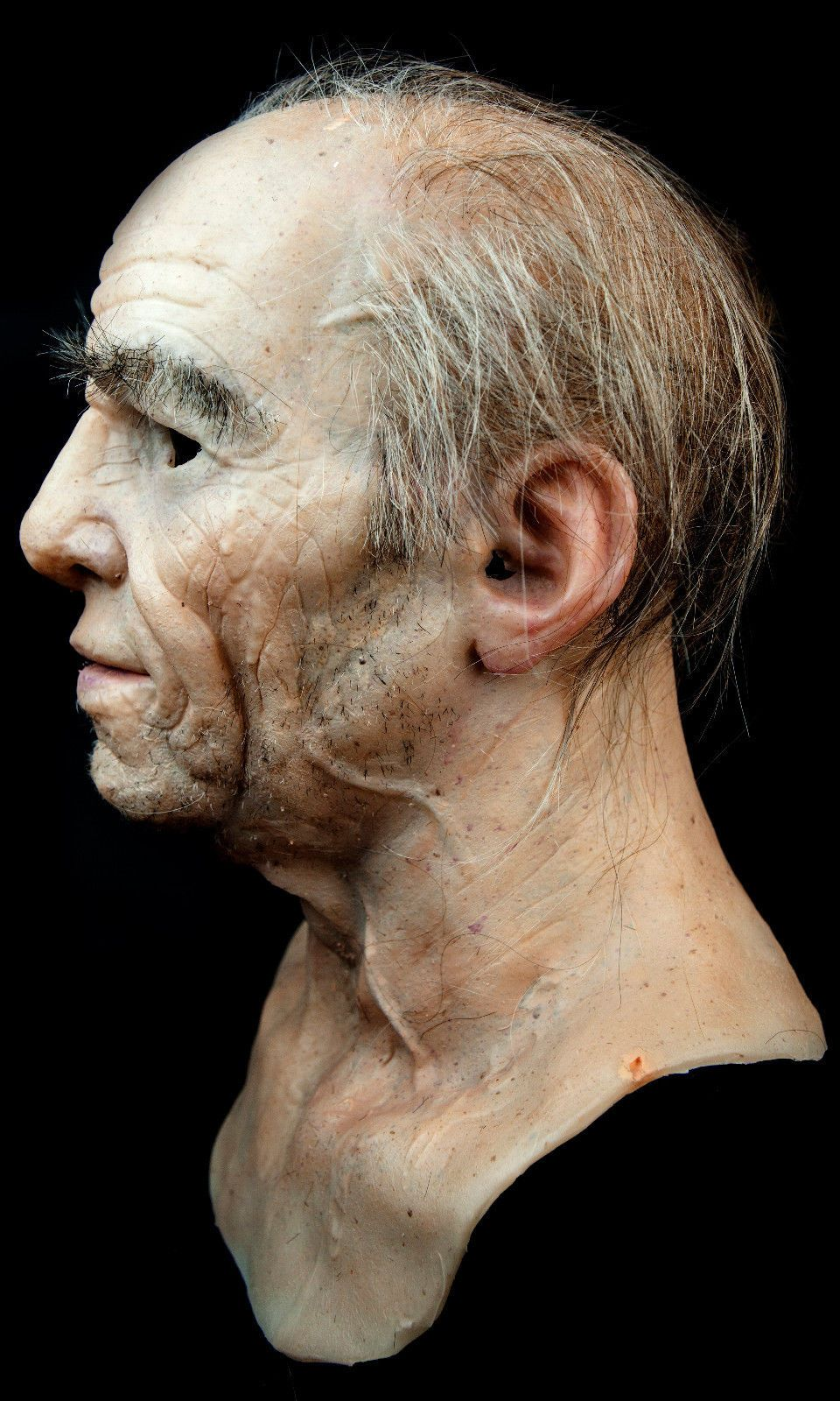 NEW Hand Made, Pro Silicone Mask Old Man