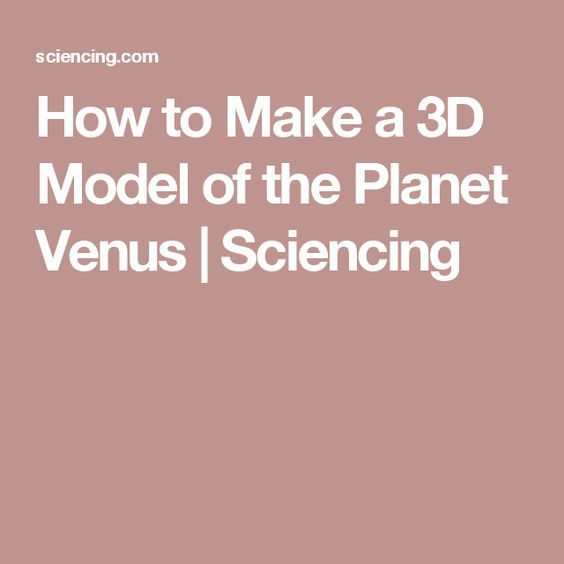 How to Make a 3D Model of the Planet Venus | Planet ...