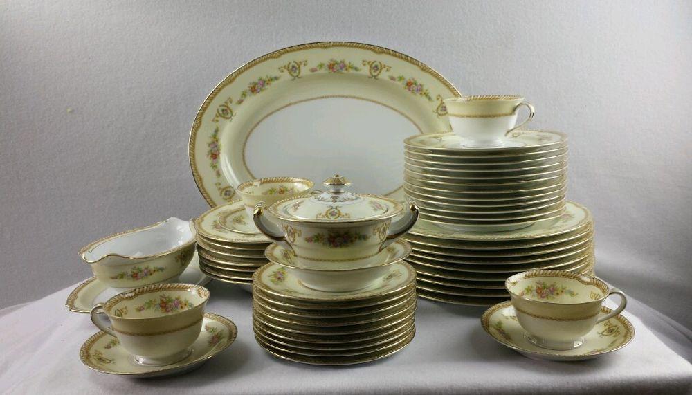 48 Pieces Noritake China M Japan 3822 Abelia Pattern Dinnerware Set Ivory & US $332.00 in Pottery u0026 Glass Pottery u0026 China China u0026 Dinnerware ...