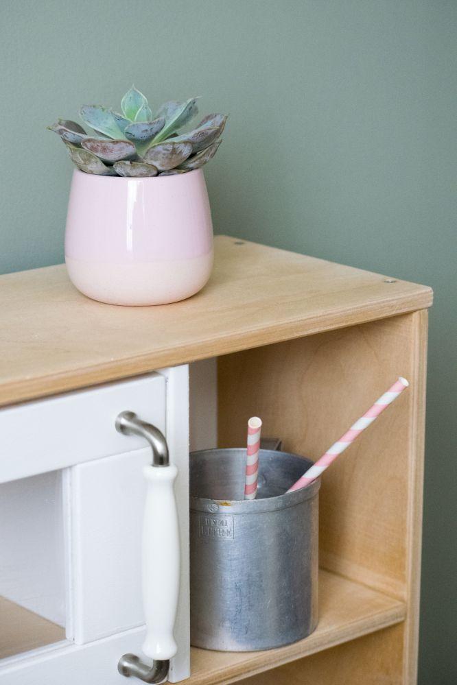 Dansmabesace - DIY - Cuisiniere ikea - chambre enfant - Ikea hack - Rose - bois - boho - bohème ...