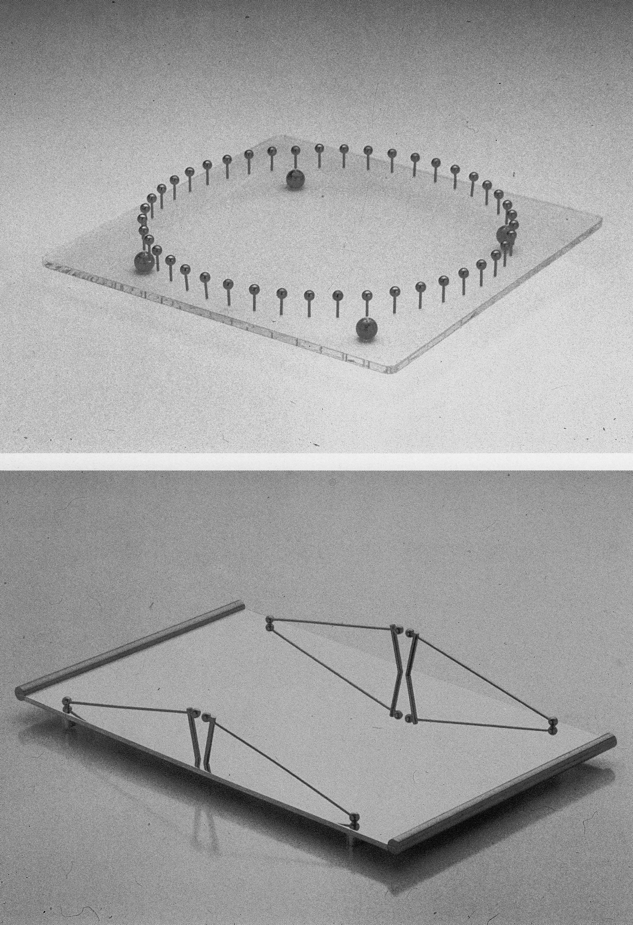 """WMF trays """"Forest"""" and """"Bridge"""", designed by Angelo Cortesi"""