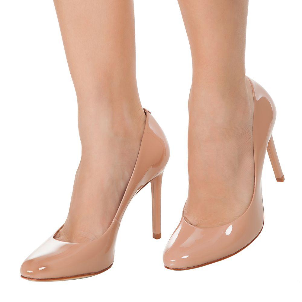 846d5f7f6 SCHUTZ - Scarpin Schutz verniz - nude - OQVestir | Sapatos ...