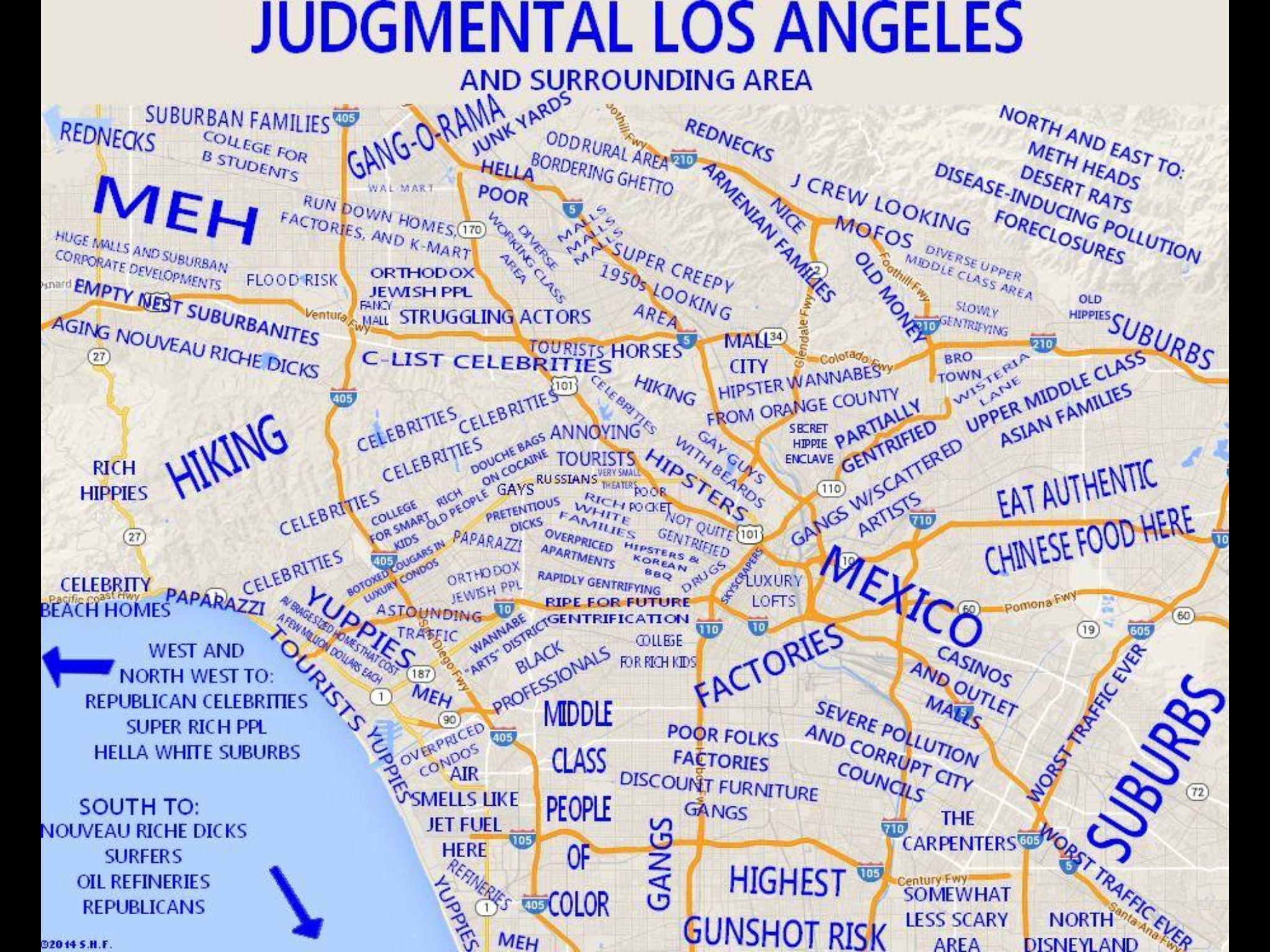Judgemental Losangeles Los Angeles Map Map Los Angeles