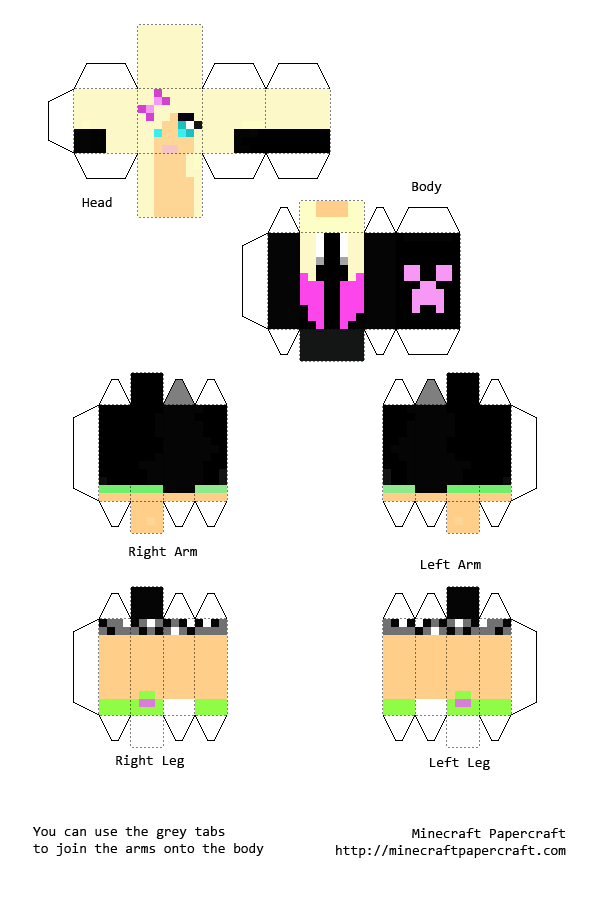 Papercraft Minecraft Skins Buscar Con Google Papercraft - Skin para minecraft 1 8 crear