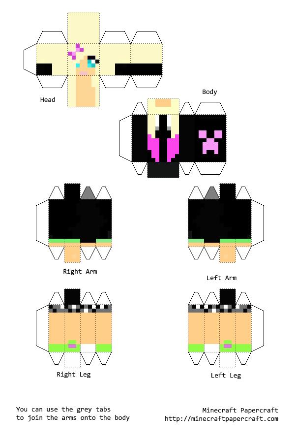 papercraft minecraft skins buscar con google papercraft