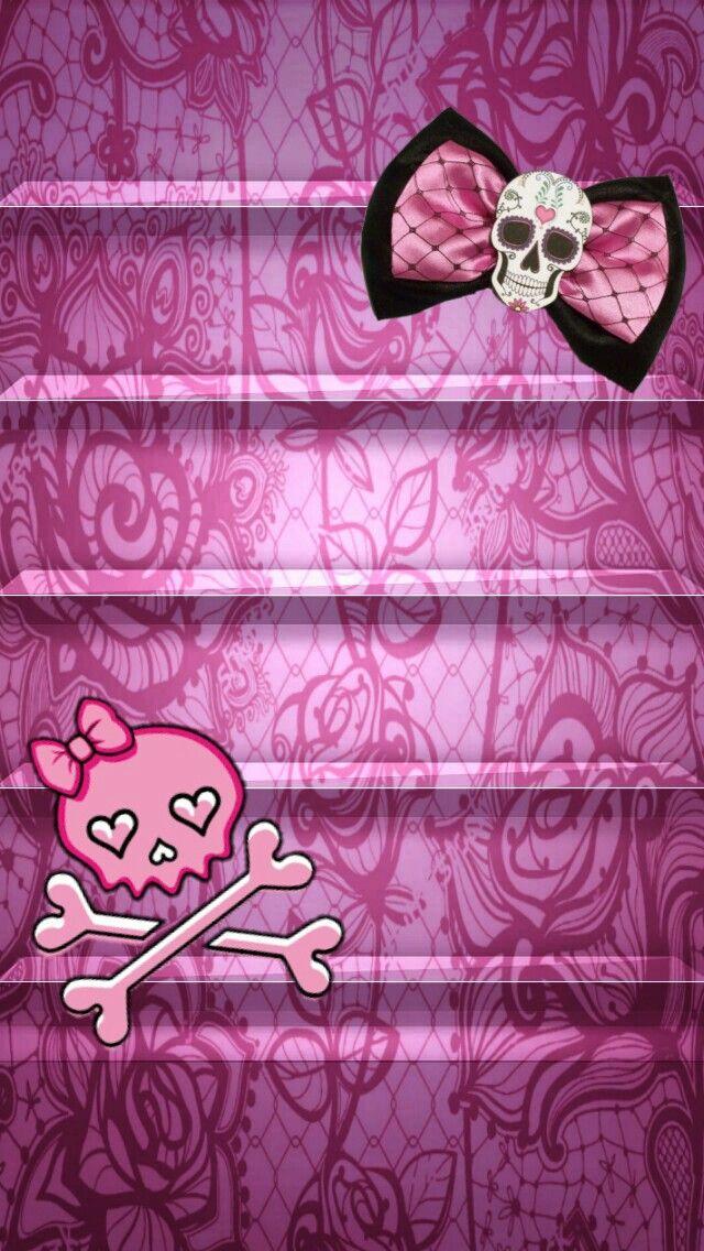 Skull bows wallpaper lock screens pinterest wallpaper skull bows voltagebd Image collections