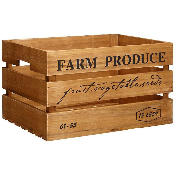 Buy John Lewis Botanist Large Wooden Crate Online At Johnlewiscom