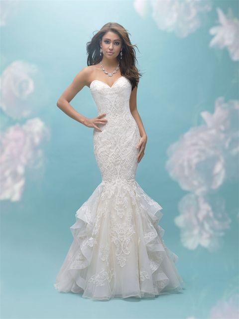 9456 in gold/ivory, sample size 14 | Manchester-Allure Bridals ...