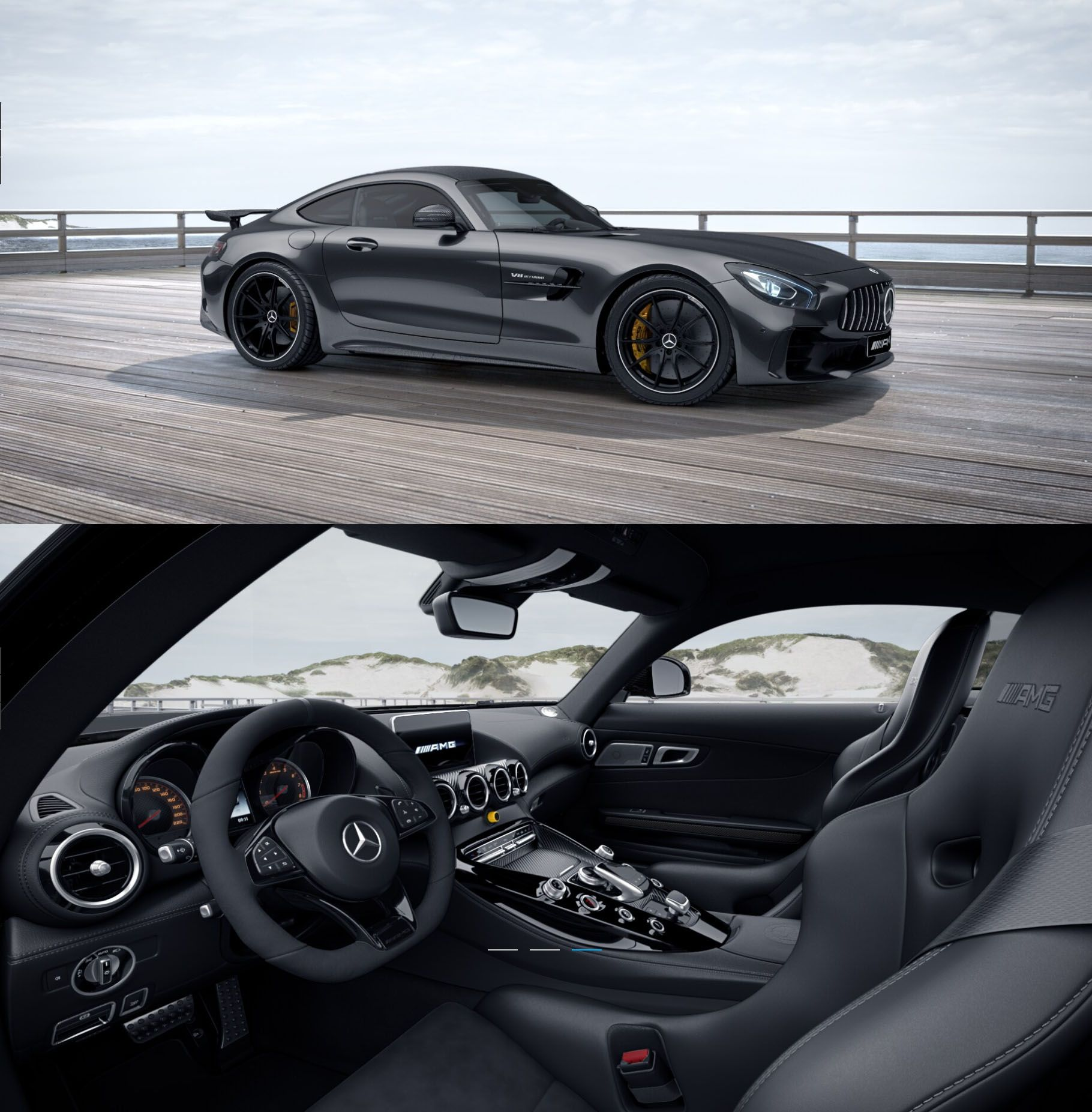 Mercedes Amg Gtr Coupe In Magnetite Black With Exterior And