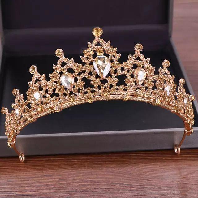 Details about  /Vintage Gothic Tiaras Accessories Rhinestone Crown Wedding Hair Headpieces