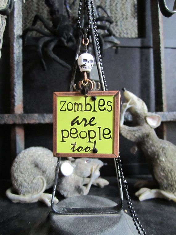 Spooky Reversible Undead ZOMBIES Halloween Charmer by luvmibug, $15.00