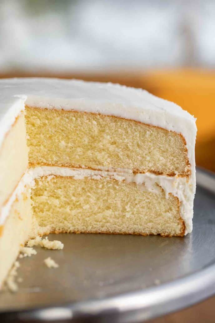 Vanilla Cake is a CLASSIC cake recipe made with vanilla ...