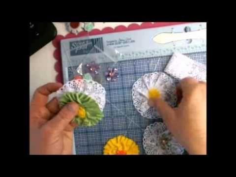 Scor tape flowers challenge #1