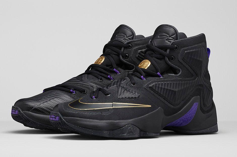 Nike Basketball Trendy - 2015 Nike LeBron 13 Pot of Gold Shoes for Men