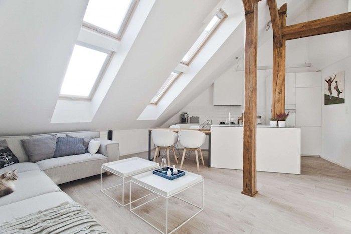 Dachgeschoss Küche dachgeschoss küche wohnküche zu hause weiße einrichtung