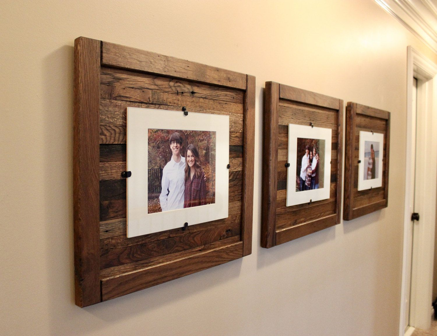 Reclaimed Wood Frames, Large Wood Frames, Set of 3, 8 x 10 Picture ...