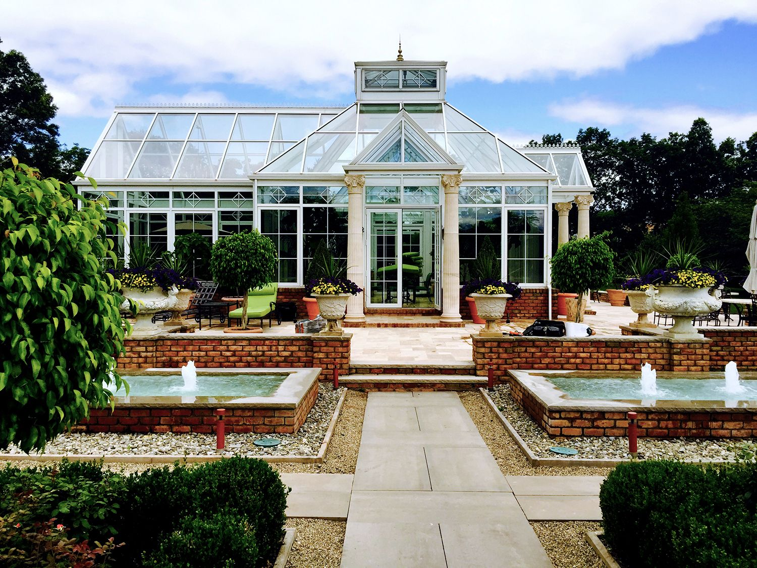 Traditional conservatory, perfect for backyard entertaining