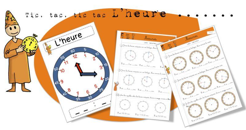 Maths-Les mesures - L'heure (Bout de gomme) | L'heure, Apprendre l heure et Exercices mathématiques