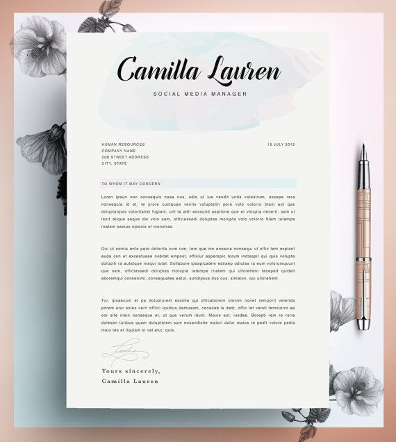 Creative Resume Template Cv Template Instant Download  Cv