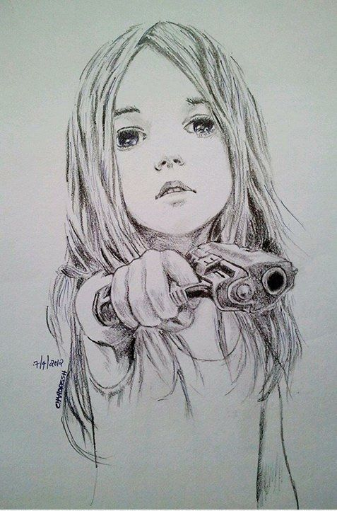 Gun Girl Sketch