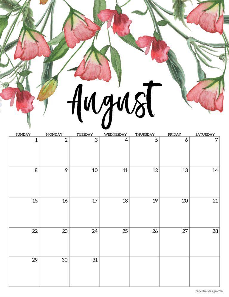 Free Printable 2021 Floral Calendar Paper Trail Design In 2020 Print Calendar Calendar Wallpaper Calendar Design