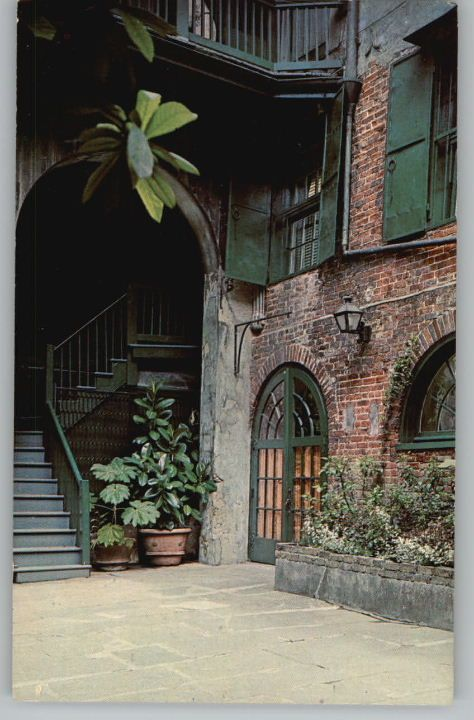 Postcard Brulatour Courtyard New Orleans Louisiana La New Orleans Homes New Orleans French Quarter New Orleans