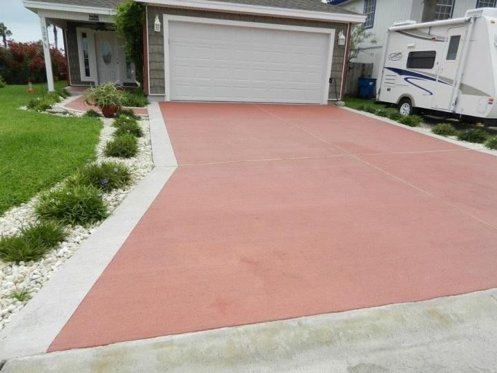 Concrete driveway stains gallery gardening pinterest for Remove stains from concrete driveway
