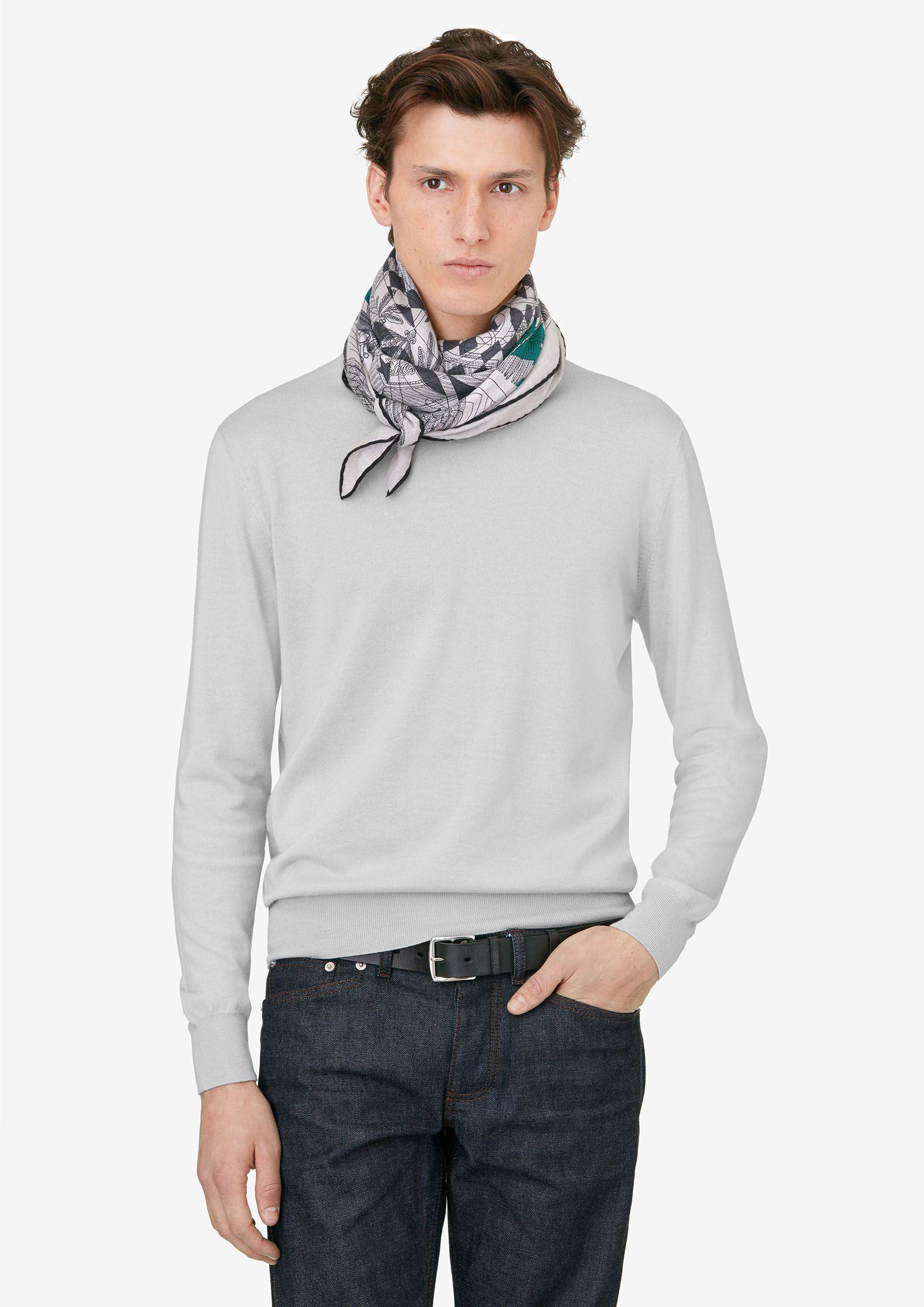 sélectionner pour officiel usine authentique vraiment pas cher Hermes cashmere and silk scarf, 55 | foulard soie homme en ...