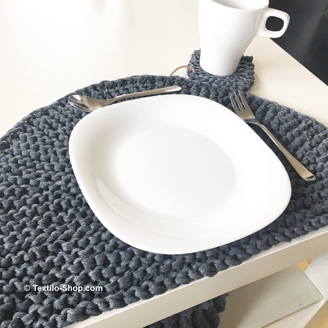 Tischset Aus Baendchengarn 2 Tischset Garn Textilgarn