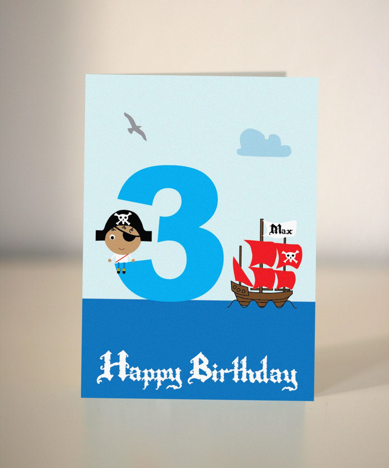 Handmade Pirate Birthday Card for little boys - party invite. £2.50 ...