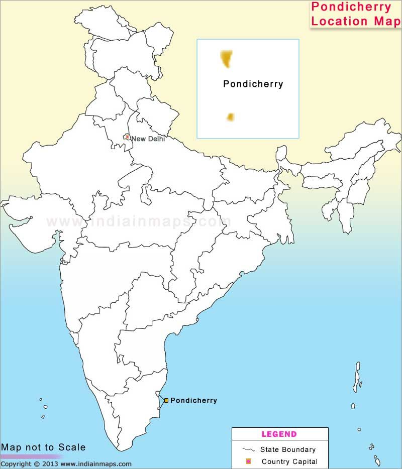 pondicherry location map location map of indian states