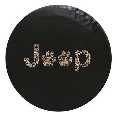 Jeep Spare Tire Cover Paw Print 33 Inch Leopard Jeep Spare Tire