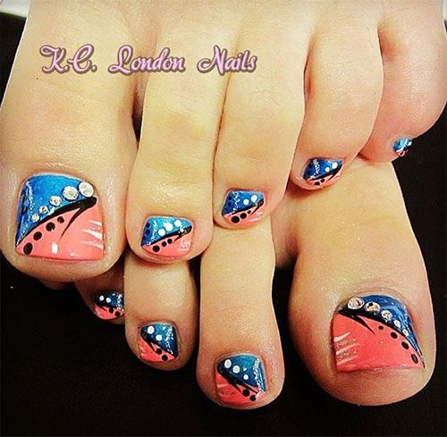 15 Cool Nail Art Designs: Funky Toe Nail Art-15 Cool Toe Nail Designs For Teenage