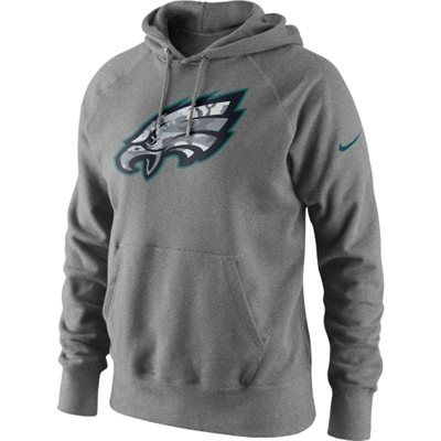 New Mens Philadelphia Eagles Nike Gray Fly Over Pullover Therma FIT  for cheap