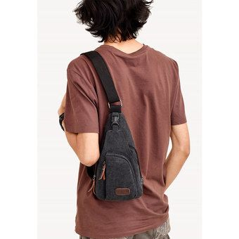 1b315fa6d9 Belanja Tas Sandang Kanvas Messenger Bag Pria Men - Hitam Indonesia Murah - Belanja  Tas Messenger