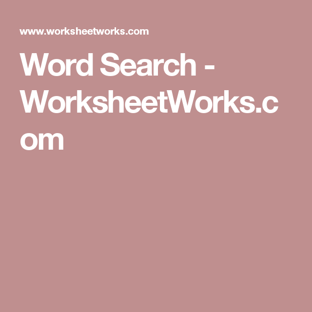 Word Search - WorksheetWorks.com | Women's retreat | Word ...