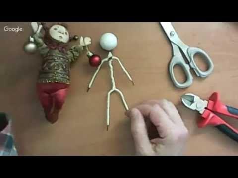 новогодняя куколка МК Елены Олейник - YouTube