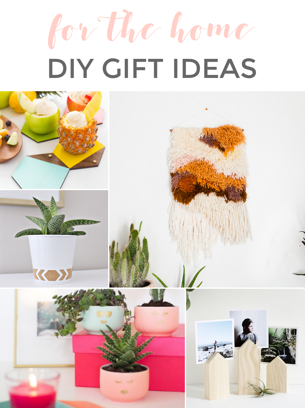 DIY HOLIDAY GIFT IDEAS: FOR THE HOME | DIY | Pinterest | Diy holiday ...