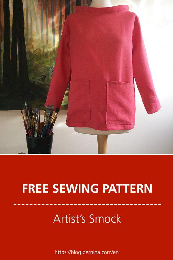 Photo of Free sewing pattern and instructions for an artist's smock